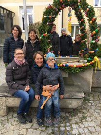 Agnes Hitzlsperger und das fleißige Team
